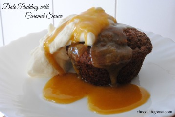 Date Pudding with Caramel Sauce